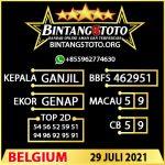 Rumus Bintang5 Belgium 29 JULY 2021