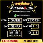 Rumus Bintang5 Colombo 26 JULY 2021