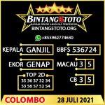 Rumus Bintang5 Colombo 28 JULY 2021