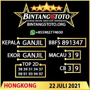 Rumus Bintang5 Hongkong 22 JULY 2021
