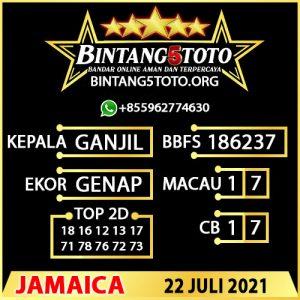Rumus Bintang5 Jamaica 22 JULY 2021