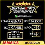 Rumus Bintang5 Jamaica 30 JULY 2021