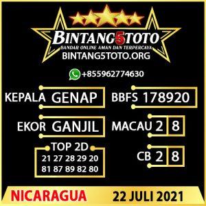 Rumus Bintang5 Nicaragua 22 JULY 2021