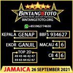 Rumus Bintang5 Jamaica 26 September 2021